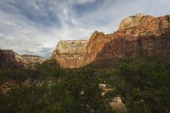 Klippen von Zion National Park in Utah Stockfoto