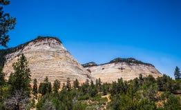 Klippen in Zion National Park Het landschap van een deel Utah stock afbeelding