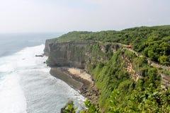 Klippenansicht in Bali, Indonesien Stockbild