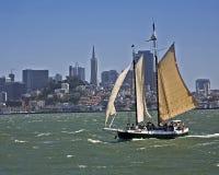 Klipper in San Francisco Bay stockfotografie