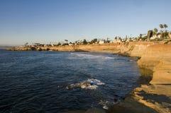 Klippor är San Diego royaltyfri fotografi