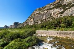 Klippor av Arco - Trentino Italien Arkivbilder