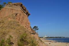 Klippor av Atlantida på stranden Fotografering för Bildbyråer