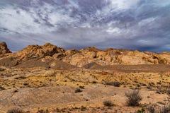 Klippor av den Utah öknen arkivbild