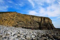 Walesiskt segla utmed kusten Fotografering för Bildbyråer