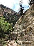 Klippor av en kanjon i Cypern arkivbilder