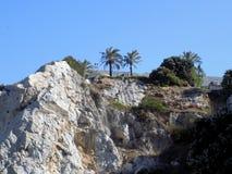 Klippor av GIBRALTAR Arkivfoto