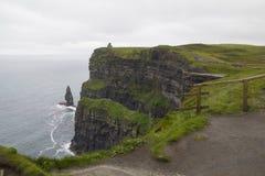 Klippor av moher i Clare Co , Irland Royaltyfri Bild