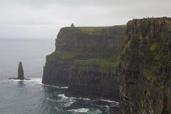 Klippor av moher i Clare Co , Irland Royaltyfria Foton