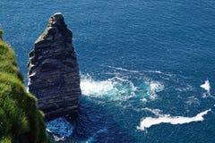 Klippor av Moher i Irland Arkivbilder