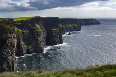 Klippor av Moher - ståndsmässiga Clare - Irland Royaltyfri Foto