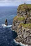 Klippor av Moher - ståndsmässiga Clare - Irland Royaltyfri Fotografi