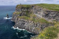 Klippor av Moher - ståndsmässiga Clare - Irland Fotografering för Bildbyråer