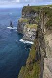Klippor av Moher - ståndsmässiga Clare - Irland Arkivfoton