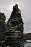 Klippor av Moher vid havet Arkivfoto