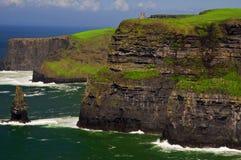 klippor coast berömd västra ireland moher Royaltyfri Fotografi