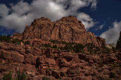 Klippor för sandsten för Zion Canyon ` s Fotografering för Bildbyråer