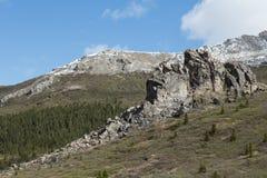 Klippor i Denali Fotografering för Bildbyråer
