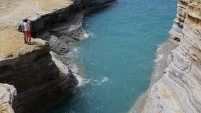 Klippor i Sidari, Korfu, Grekland Royaltyfri Foto