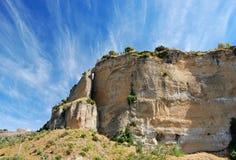 Klippor nära Ronda Arkivbild