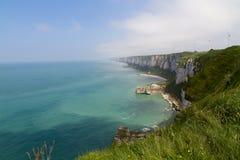 klippor normandy Arkivbild