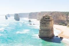 Klippor och tolv Apostels på den stora havvägen, Victoria, Australien Royaltyfri Fotografi