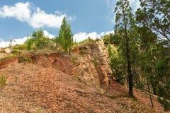 Klippor och vaggar Kakamega skog Fotografering för Bildbyråer