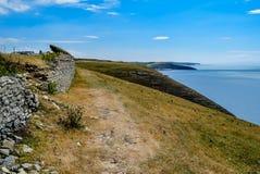 Klippor ovanför Southerndown, södra Wales Royaltyfri Fotografi