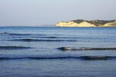 Klippor på ön av Korfu Royaltyfri Bild