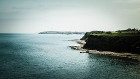 Klippor på den Black Sea kusten arkivfoto