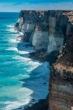 Klippor på den stora australiern Bigh Arkivfoton