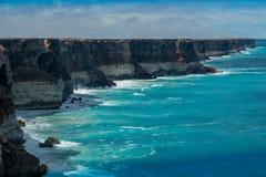 Klippor på den stora australiern Bigh Royaltyfria Foton