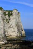 Klippor på Etretat Royaltyfri Bild