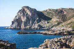 Klippor på Falasarna, Kreta, Grekland Royaltyfri Fotografi