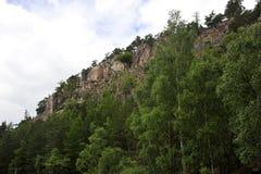 klippor som klättrar rocken Arkivbild