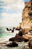 Klipporna av Bonifacio In Corsica royaltyfri foto