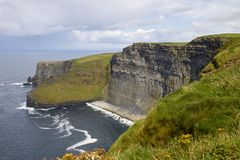 Klipporna av Moher i Irland royaltyfri bild
