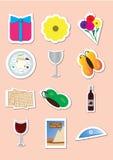 Klippta ut beståndsdelar för påskhögtid judisk ferie Royaltyfri Illustrationer