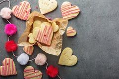 Klippta ut kakor för vanilj socker Arkivfoton