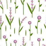 Klippte den sömlösa modellen för vektorn med papper ut blommor royaltyfri illustrationer