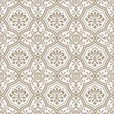 Klippte sömlöst papper för vektorn den blom- modellen, indisk stil royaltyfri illustrationer