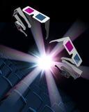 klipsk exponeringsglaskorridor för bio Royaltyfria Foton