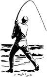 Klipsk fiskare Arkivfoton