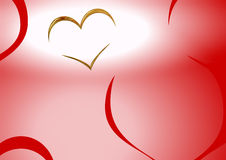 klipsk hjärta Arkivbild
