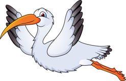 klipsk rolig stork Arkivfoto