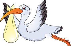 klipsk rolig stork Royaltyfria Bilder