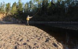 Klipska fiskare Royaltyfria Bilder