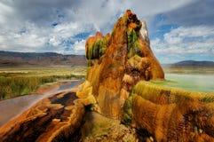 Klipska Gyser Nevada Arkivfoto