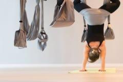 Klipskt yogarum Simulator för ockupation trapeze Arkivfoto
