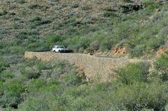 Klipspringer pass in the Karoo National Park Stock Photos